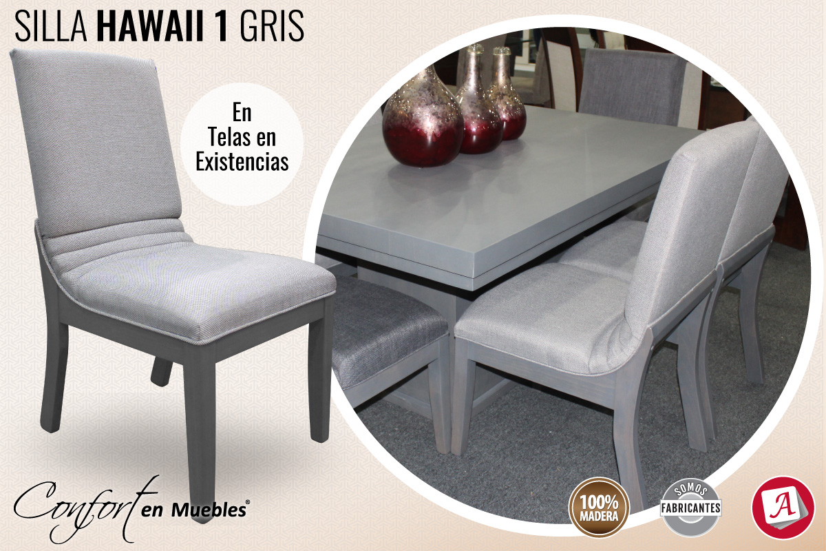Silla Hawaii 1 Gris