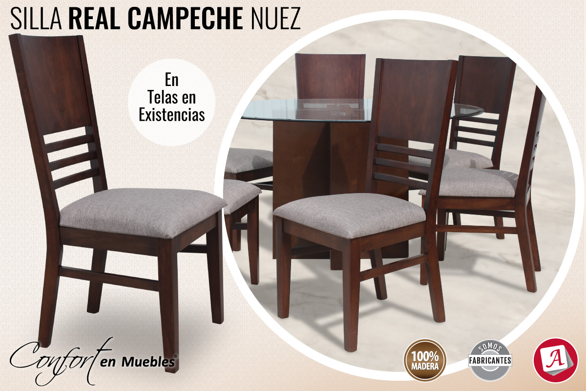 Silla Real Campeche Nuez